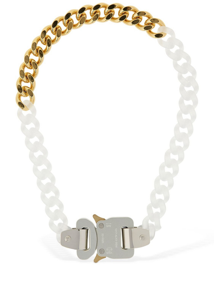 1017 ALYX 9SM Two Tone Chain Necklace W/ Buckle in gold
