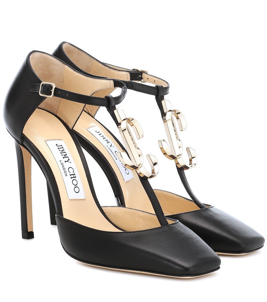 Jimmy Choo Lexica 100 leather pumps in black