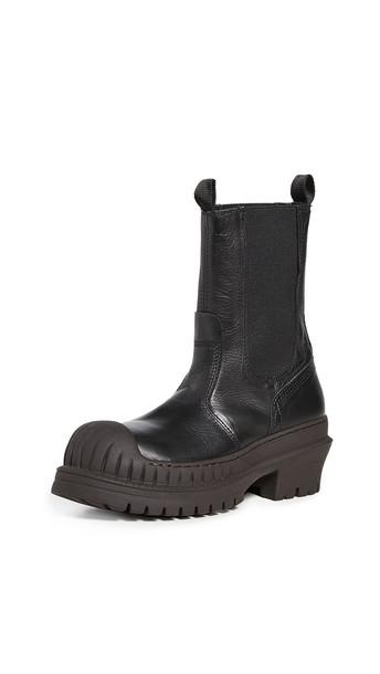 Acne Studios Bryant Chelsea Boots in black / brown