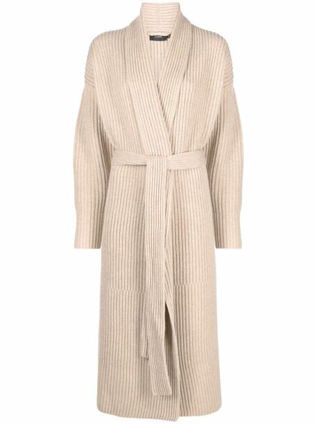 JOSEPH ribbed-knit cardi coat - Neutrals