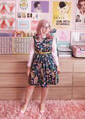 scathingly brilliant,blogger,dress,shirt,belt,shoes