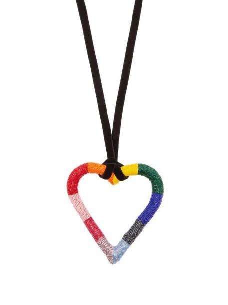 Carolina Herrera - Oversized Heart Pendant Necklace - Womens - Multi