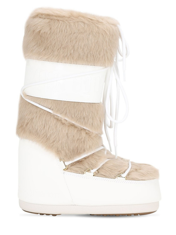 Moon Boot Classic Faux Fur Boots in white
