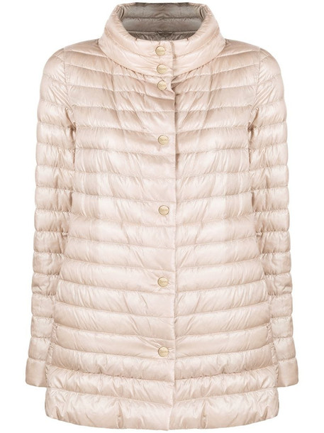 Herno reversible padded jacket in neutrals