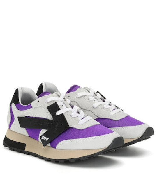 Off-White Runner suede sneakers