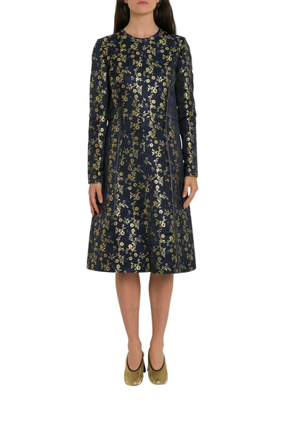 Marni Metallic Floral-jacquard Dress