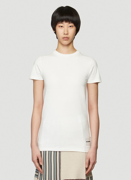 Jil Sander 3 T-Shirts Pack in White size M