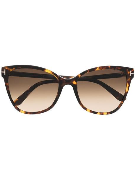 Tom Ford Eyewear cat eye-frame tortoiseshell sunglasses in brown