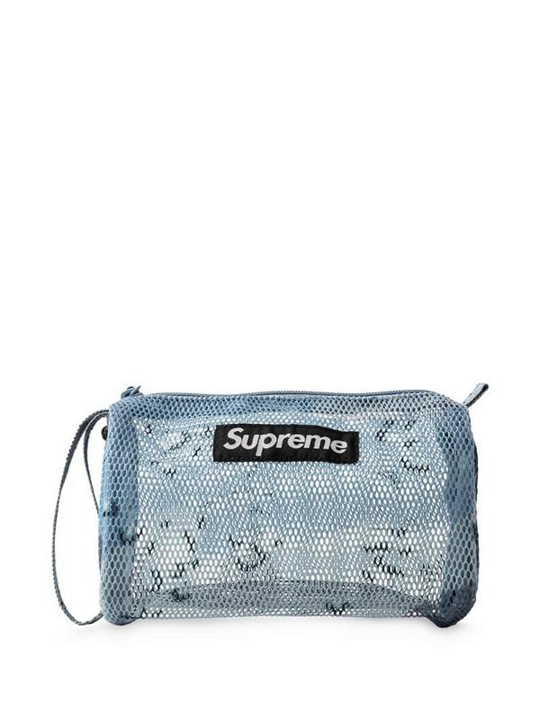 Supreme Utility logo pouch in blue