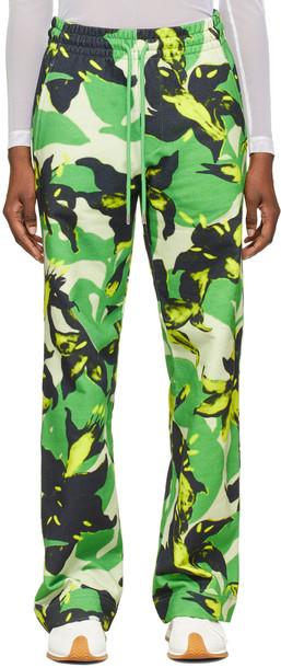Dries Van Noten Green Len Lye Edition Floral Print Lounge Pants