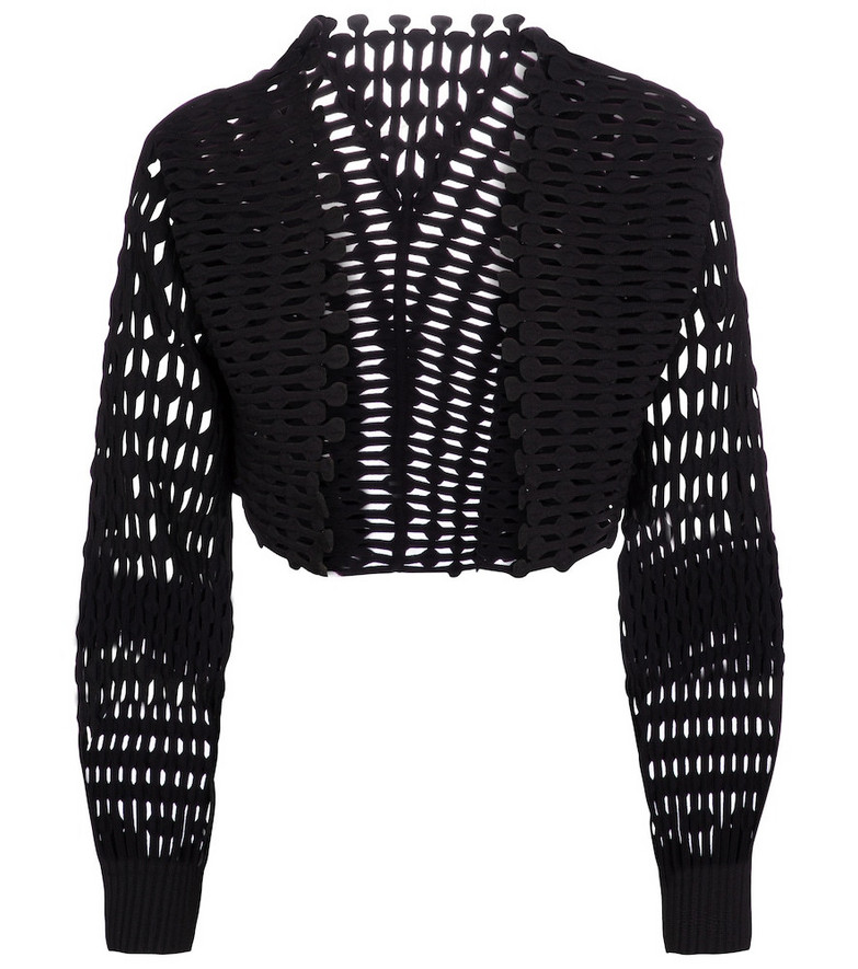 Alaïa Cropped knit jacket in black