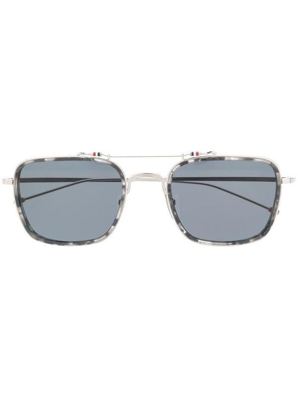 Thom Browne Eyewear rectangular-frame sunglasses in silver