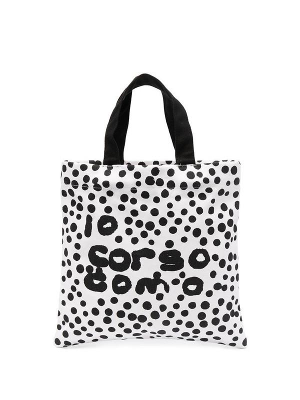 10 CORSO COMO logo polka-dot print tote bag in white