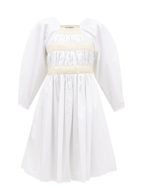 Molly Goddard - Shickle Canvas-strap Cotton-poplin Dress - Womens - White