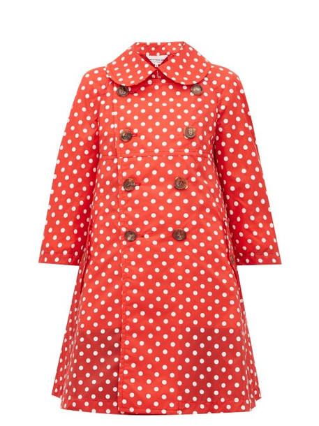 Comme Des Garçons Girl - Polka Dot Print Mac Coat - Womens - Red White