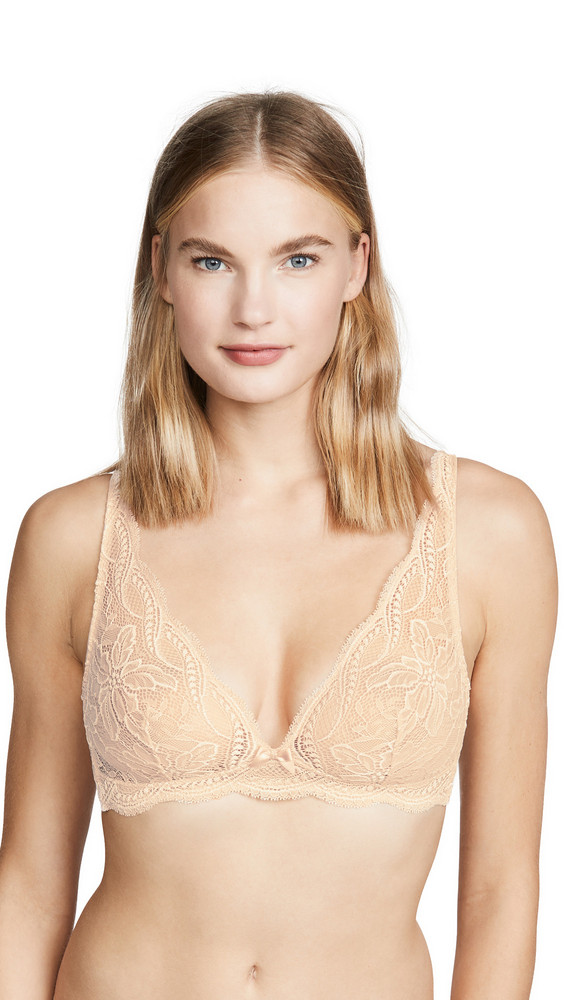Simone Perele Eden Triangle Bralette in rose