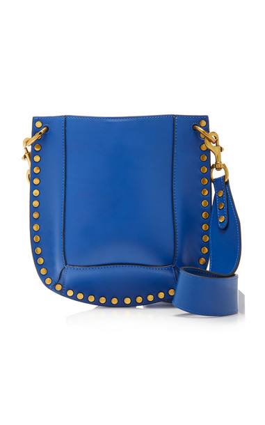 Isabel Marant Nasko Studded Leather Shoulder Bag in blue