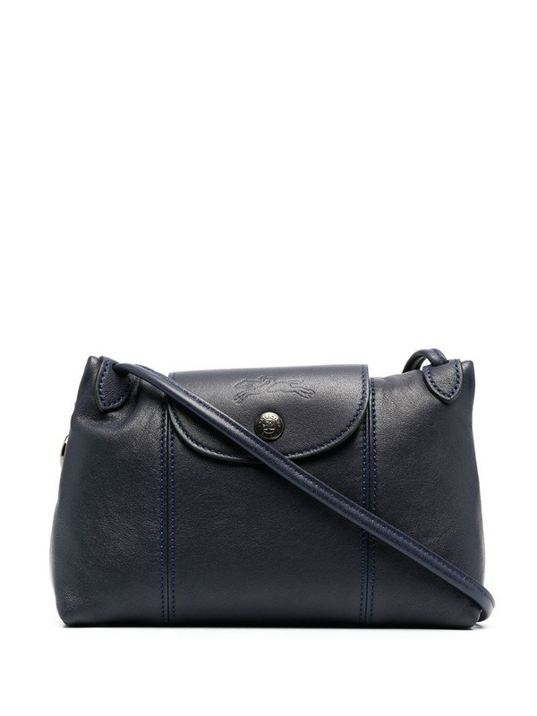 Longchamp Le Pliage Cuir crossbody bag in blue