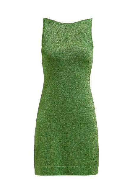 Missoni - Sleeveless Lamé Mini Dress - Womens - Green