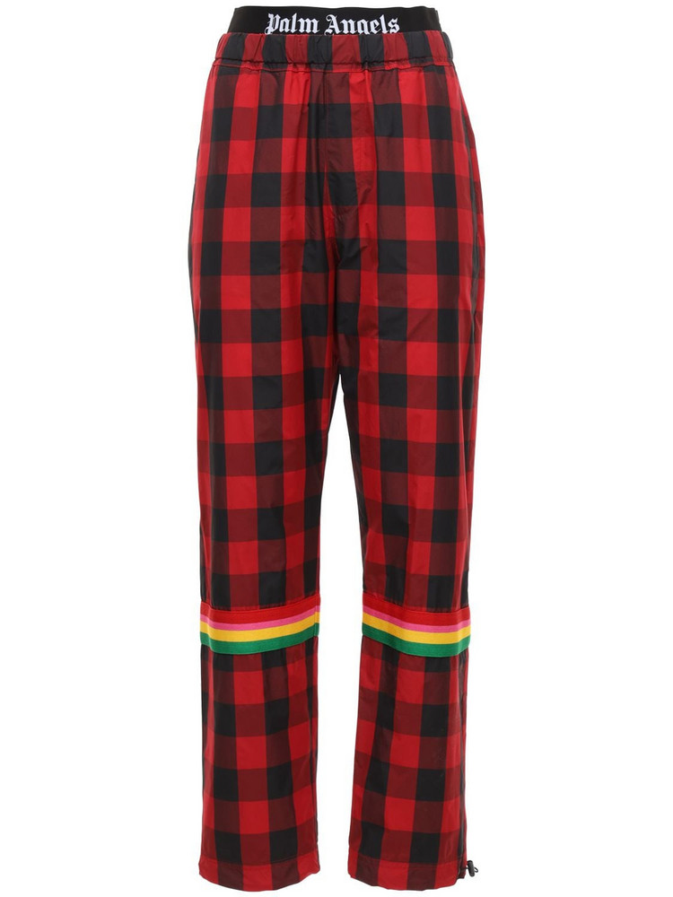 PALM ANGELS Buffalo Technic Sweatpants W/logo Band in red / white