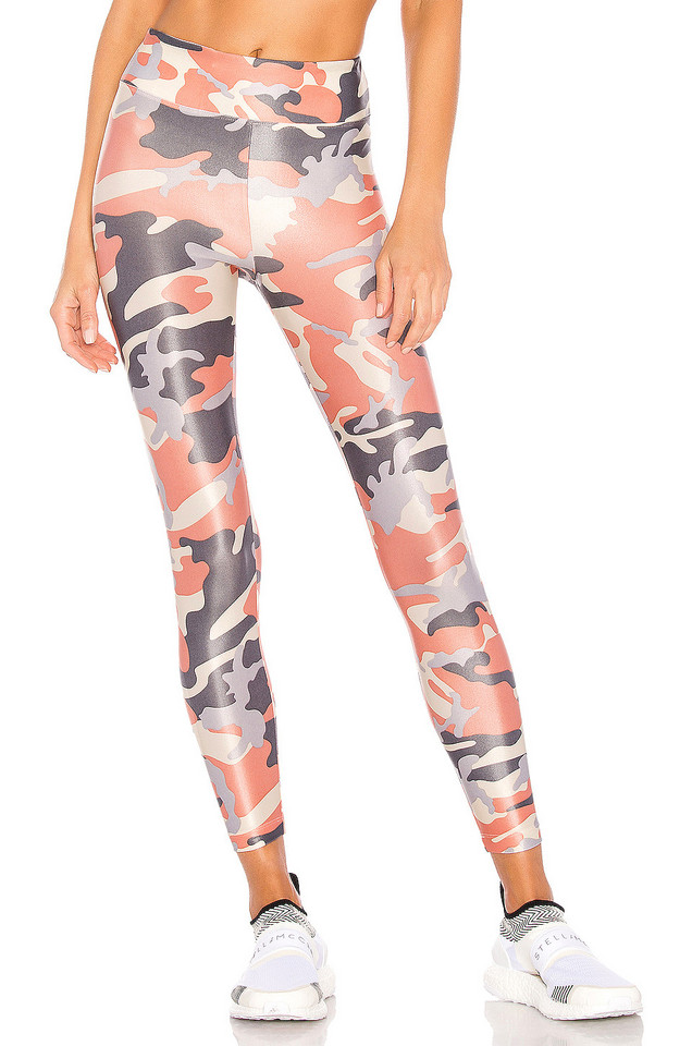 KORAL Lustrous High Rise Legging in coral