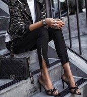 shoes,black shoes,jacket,leather jacket with rivets,black jacket,black