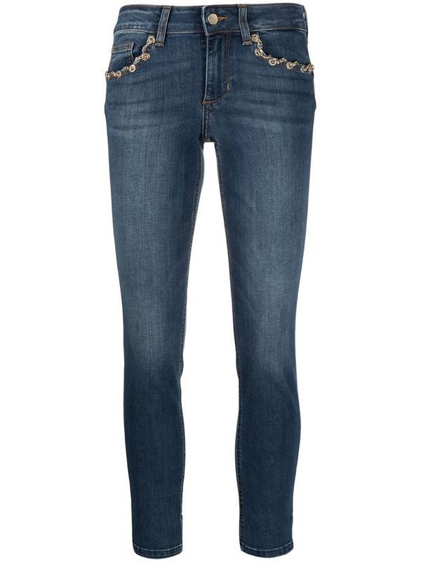 LIU JO chain-detail skinny jeans in blue