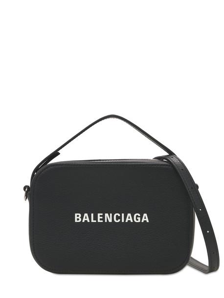BALENCIAGA Xs Everyday Leather Camera Bag in black / white