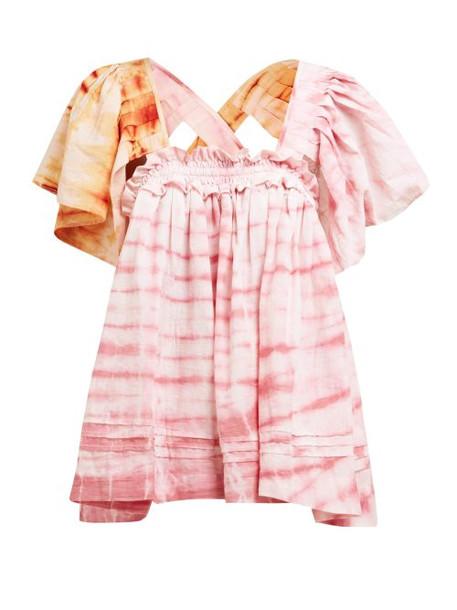 Story Mfg - Aida Tie Dye Organic Cotton Top - Womens - Pink