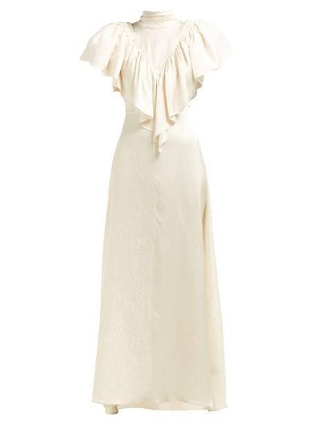 Preen By Thornton Bregazzi - Imogene Jacquard Dress - Womens - Ivory