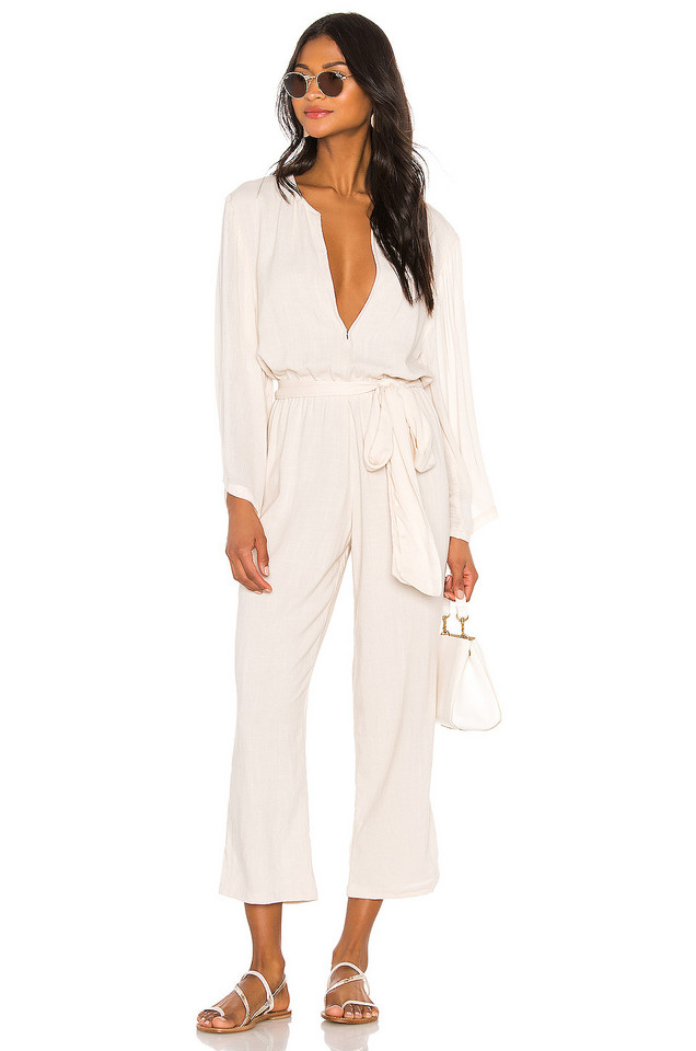 Indah Mazie Jumpsuit in white