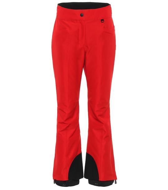 Moncler Grenoble Flared ski pants in red