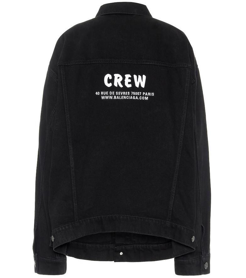 Balenciaga Crew oversized denim jacket in black