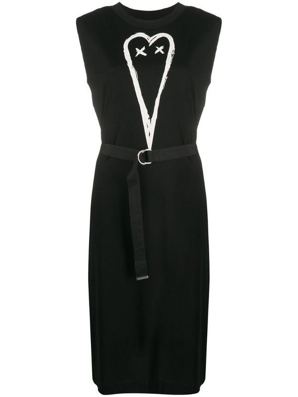 Diesel sleeveless dress with snap yoke in black