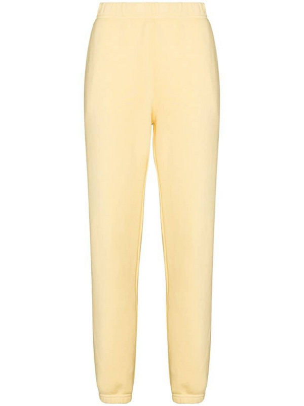 Les Tien tapered-leg cotton track pants in yellow