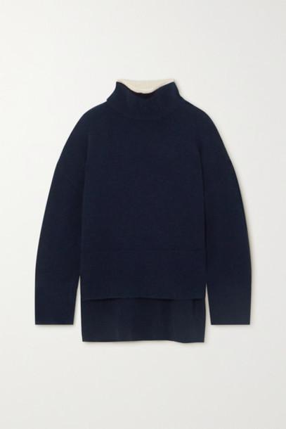 FRAME - Wool-blend Turtleneck Sweater - Navy