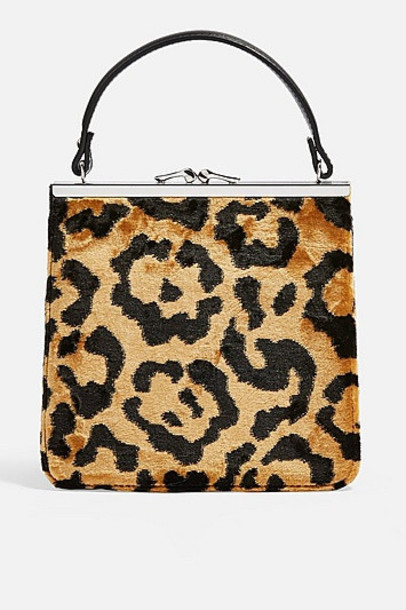 TopShop Kenya Carpet Bag - True Leopard