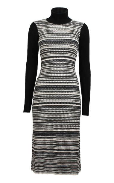 Baum und Pferdgarten Cody Cotton Blend Midi Dress in black / white
