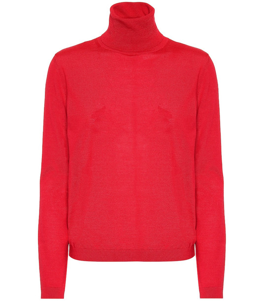 REDValentino Wool, silk and cashmere sweater in red