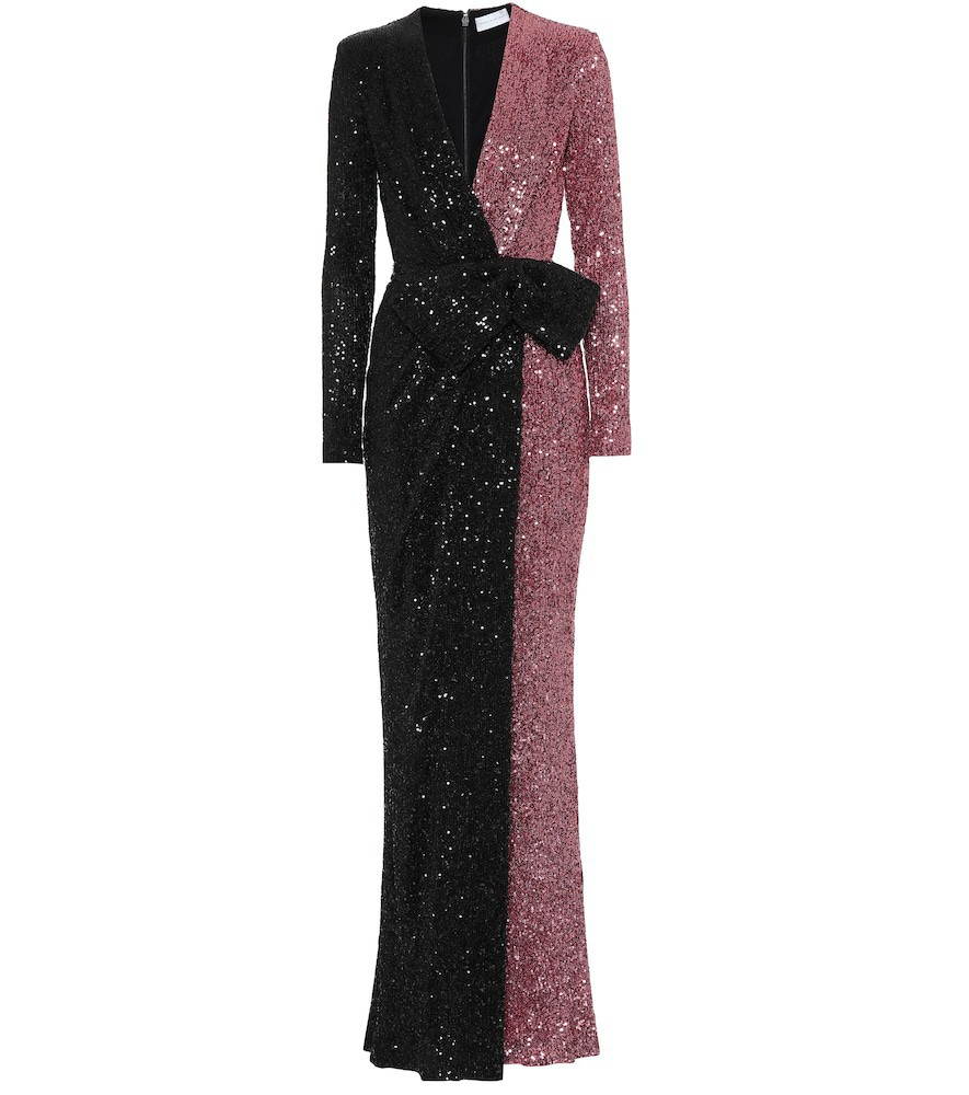 Rebecca Vallance Sequined gown in black