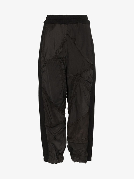 By Walid Sergio cropped trousers in black