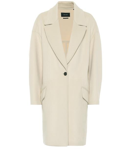 Isabel Marant Ego wool-blend coat in beige