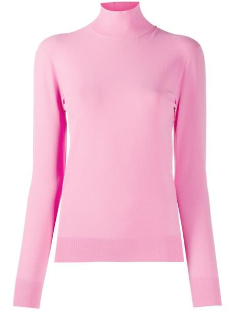 Bottega Veneta funnel neck knit jumper in pink
