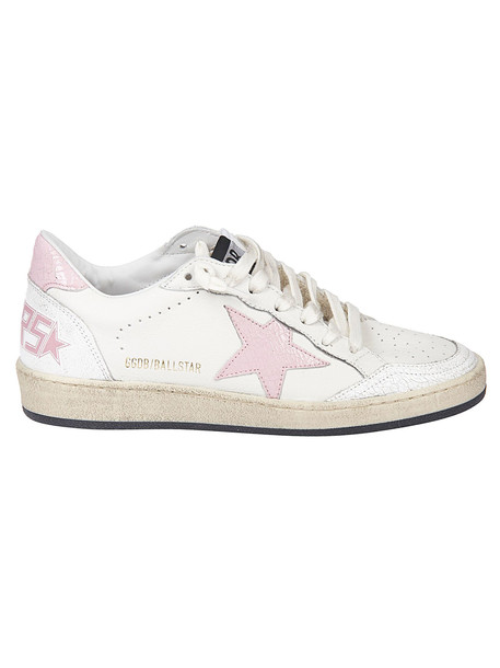 Golden Goose Ball Star Sneakers in pink / white