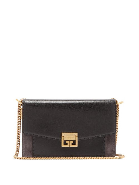 Givenchy - Mini Gv3 Leather And Suede Cross-body Bag - Womens - Black Grey