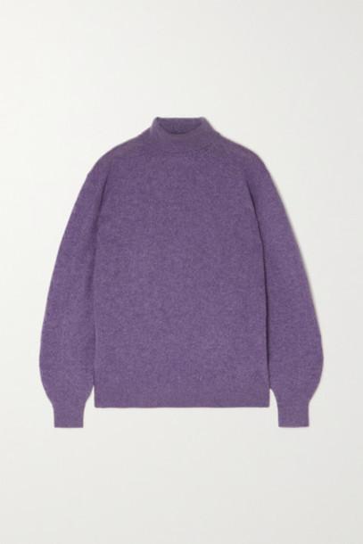 Khaite - Julie Cashmere-blend Turtleneck Sweater - Lilac
