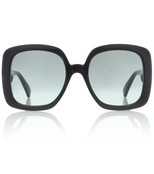 Gucci Oversized acetate sunglasses in black