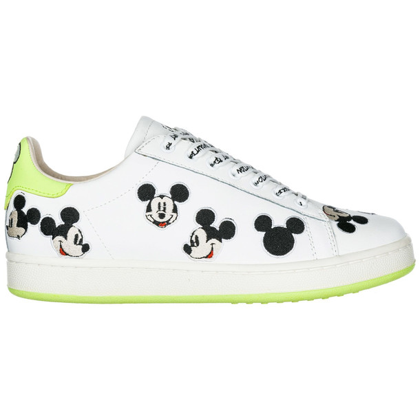 M.O.A. master of arts Women's Shoes Leather Trainers Sneakers Disney Mickey Mouse in green / white