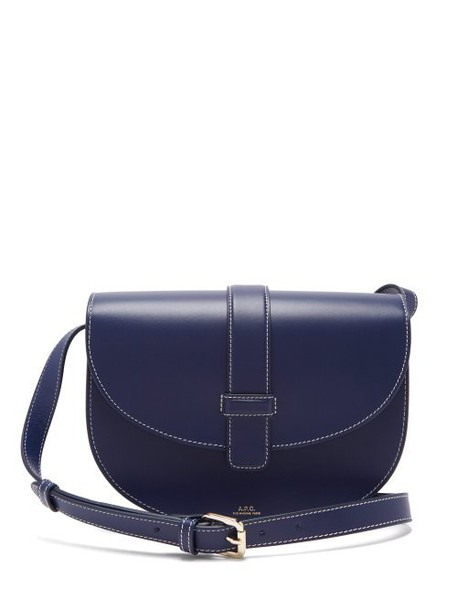 A.P.C. A.p.c. - Eloise Leather Saddle Bag - Womens - Navy