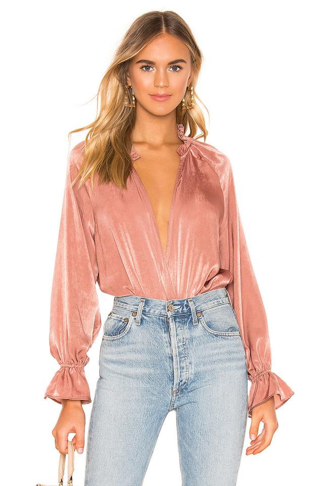 Tularosa Ashley Bodysuit in blush